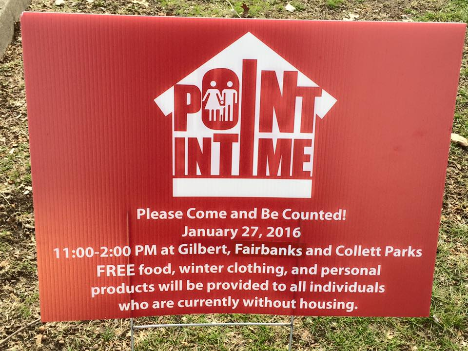 Homeless Ministry–2016 Point in Time Count