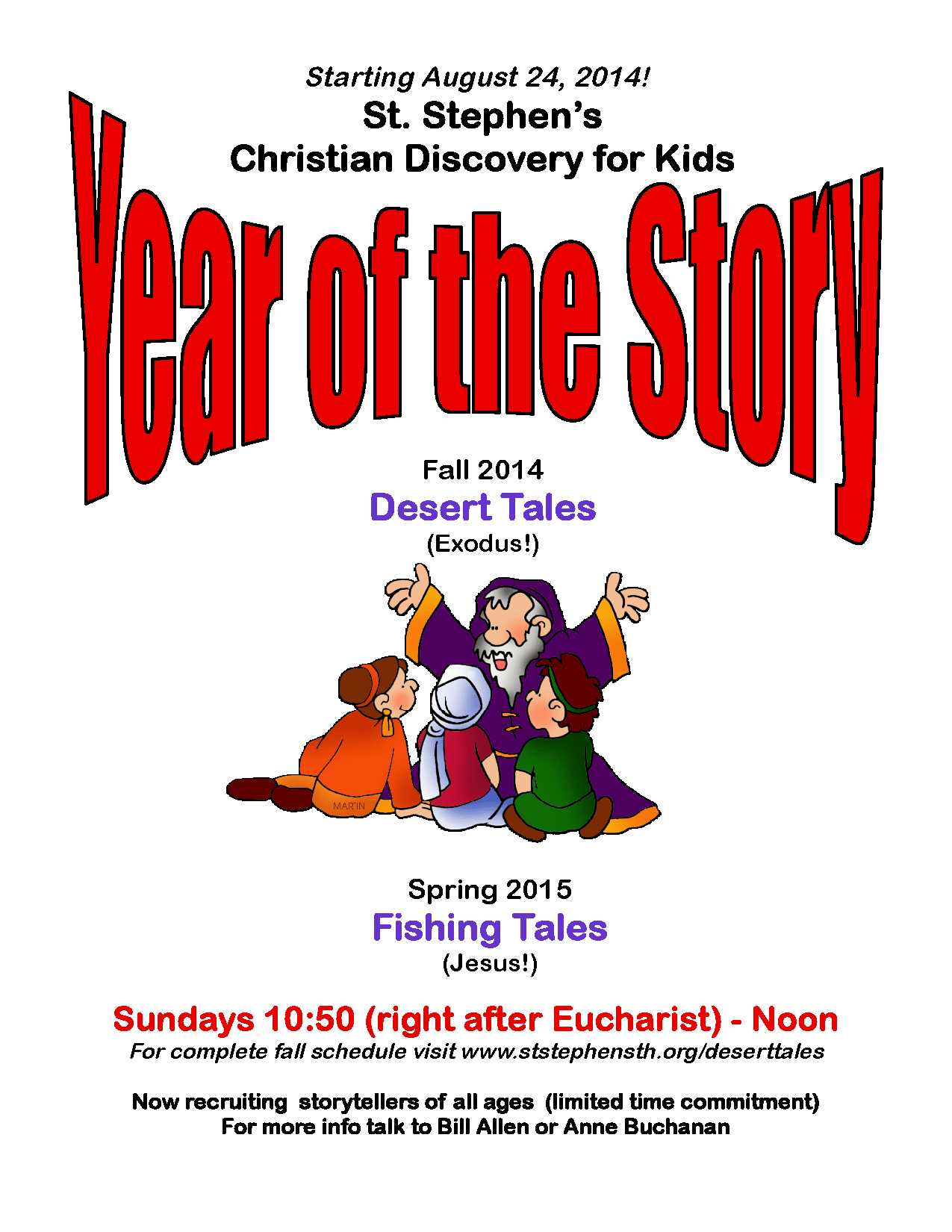 christian discovery for kids u201cyear of the story u201d st stephens