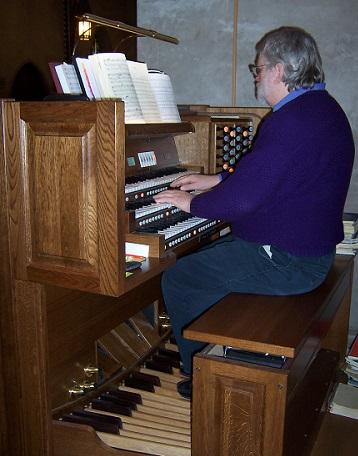 Dennis at organ 2